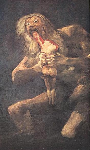 Cronos, devorando seus filhos(Goya)