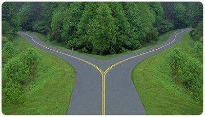 Só quem segue a trilha pode ver o encontro dos caminhos